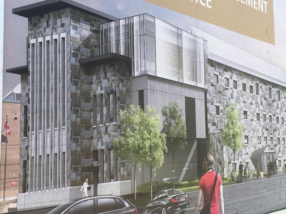 Aperçu du palais de justice une fois les rénovations complétées, en 2019
