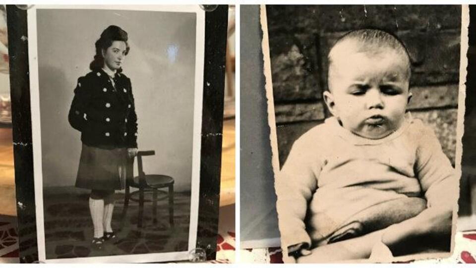 Une photo de Maria Sovyn et son fils Michael en Allemagne