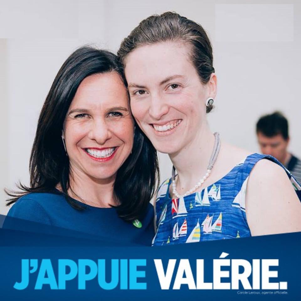 Marie-Ève Gagnon et Valérie Plante