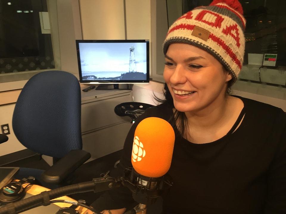 Marie-Lyne Allard en studio avec l'équipe de 360 PM