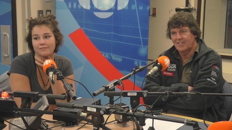Aurélie Otis et Mario Bilodeau en entrevue