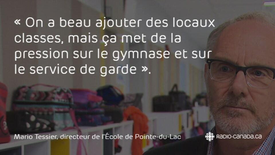 Mario Tessier, directeur de l'École de Pointe-du-Lac