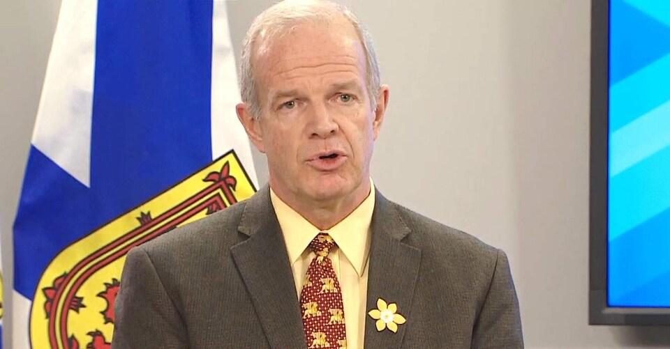 Mark Furey annonce un moratoire sur les contrôles de rue le 17 avril 2019 à Halifax.