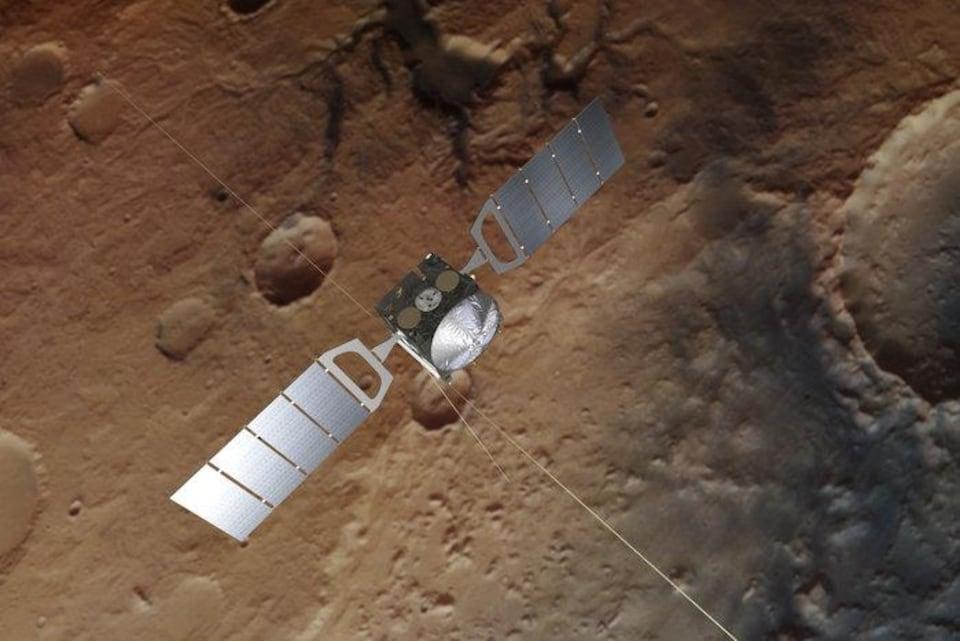 Impression artistique de la sonde Mars Express.
