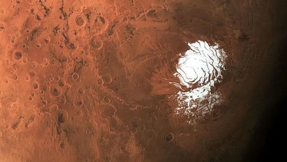 Le pôle Sud de Mars.