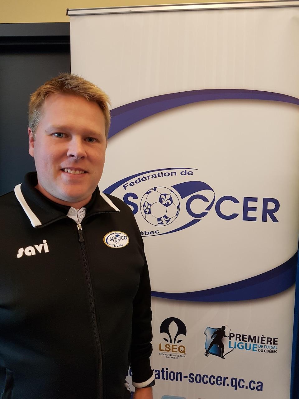 Mathieu Chamberland, directeur général de la Fédération de soccer du Québec.