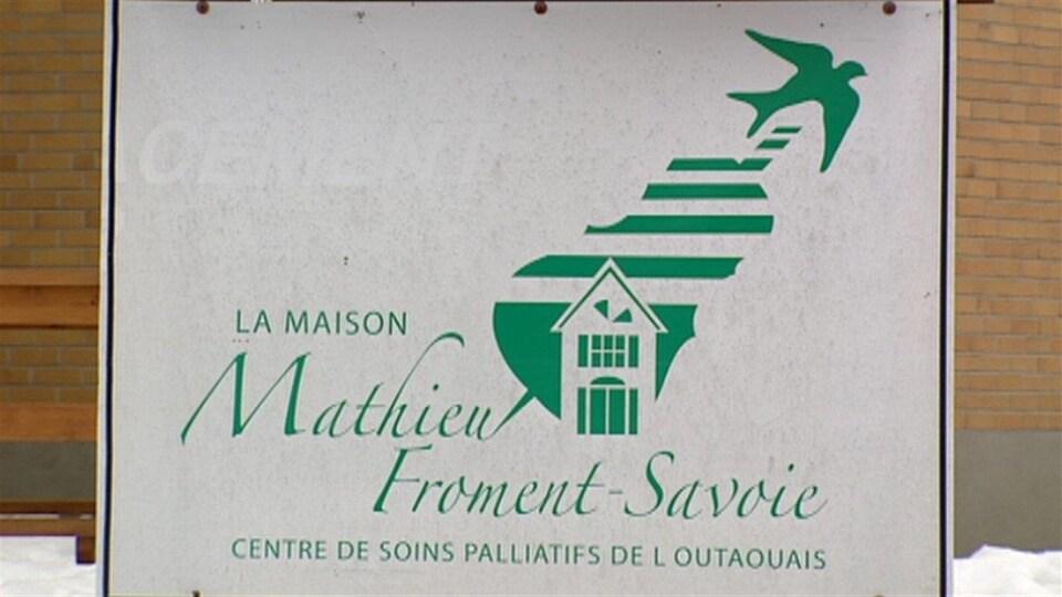 Une pancarte qui indique la Maison Mathieu-Froment-Savoie, à Gatineau.