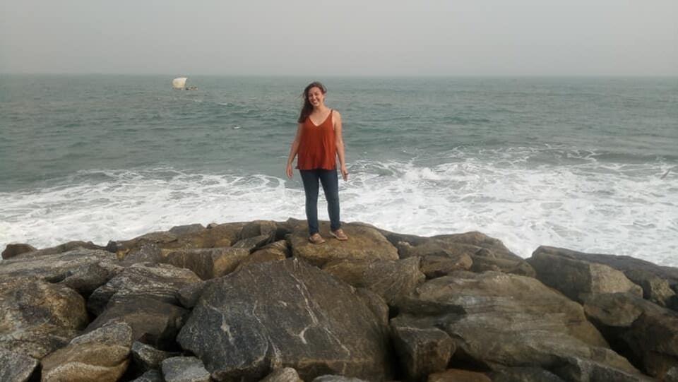 Maude J. Coulombe habite au Burkina Faso depuis un an et demi. Elle revient tout juste d'un voyage au Ghana.