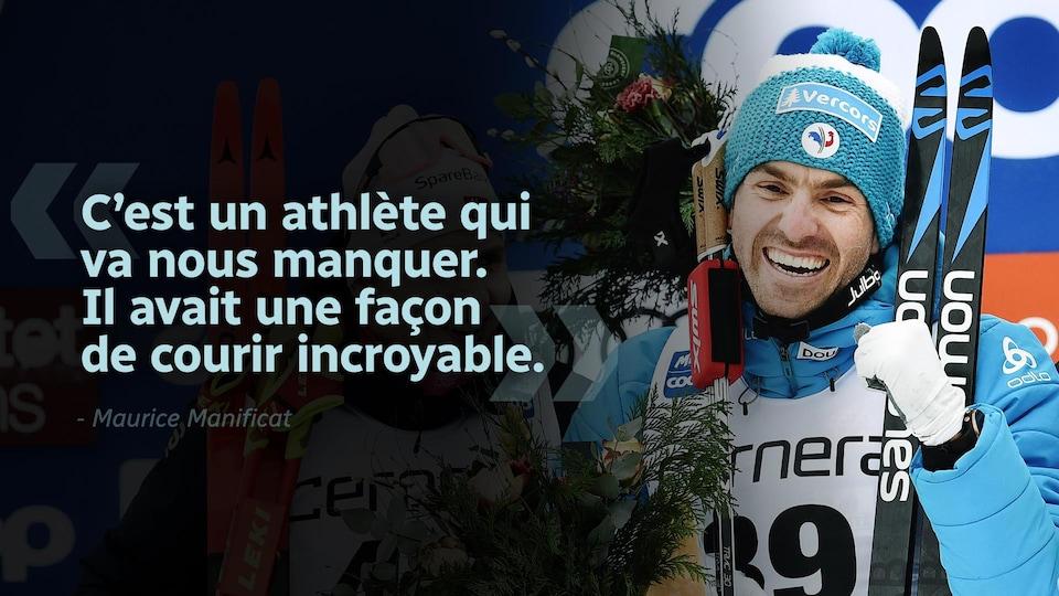 Citation «C'est un athlète qui va nous manquer. Il avait une façon de courir incroyable.»