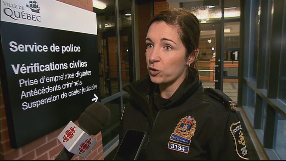 Mélissa Cliche, porte-parole de la police de Québec