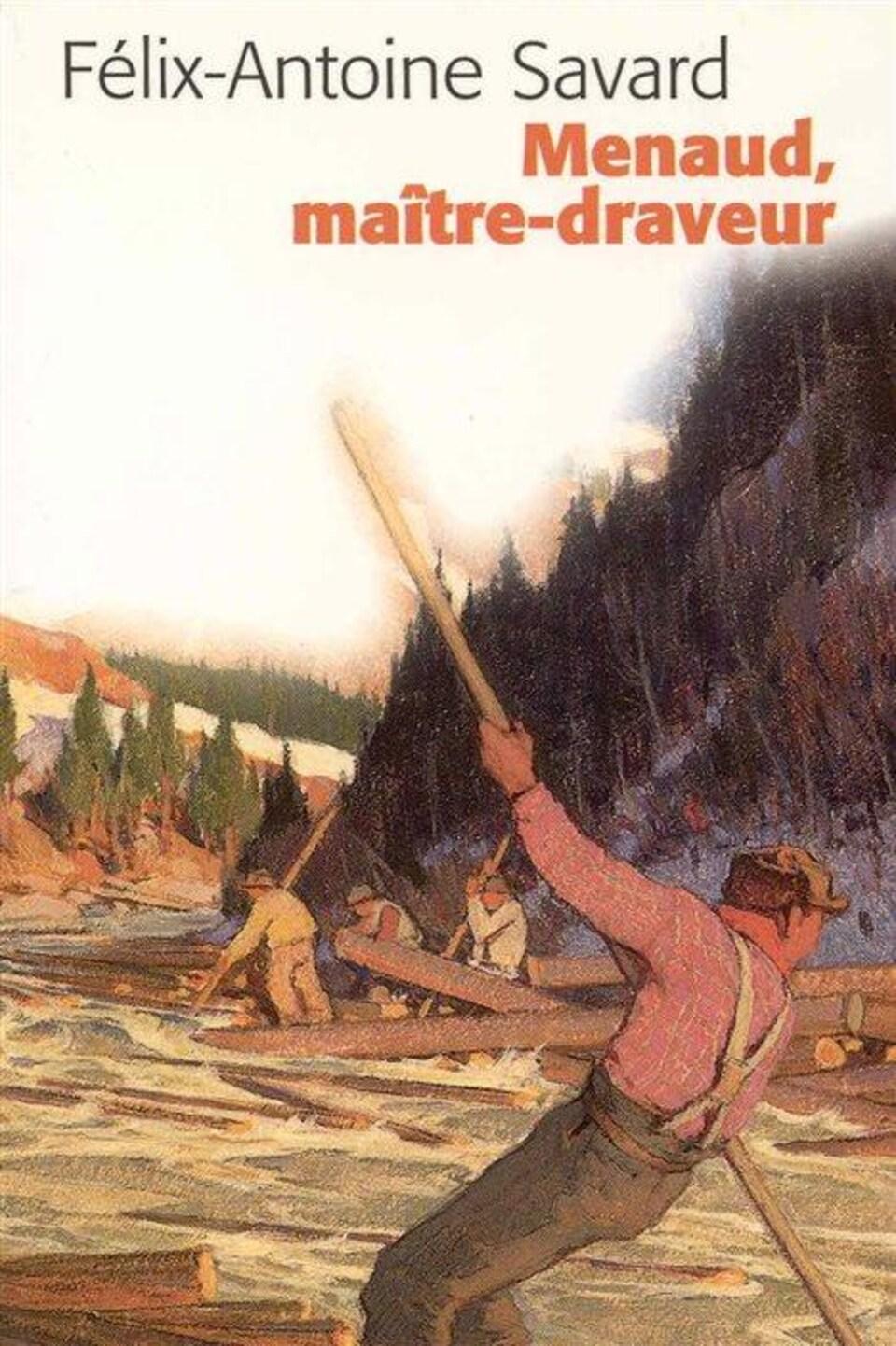 Détail de la couverture de «Menaud, maître-draveur» de Félix-Antoine Savard