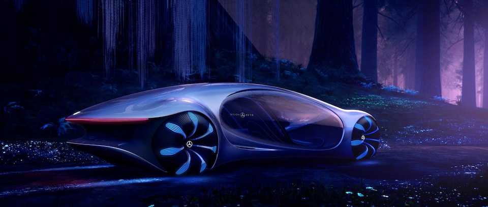 Dessin du prototype Mercedes-Benz Vision AVTR.
