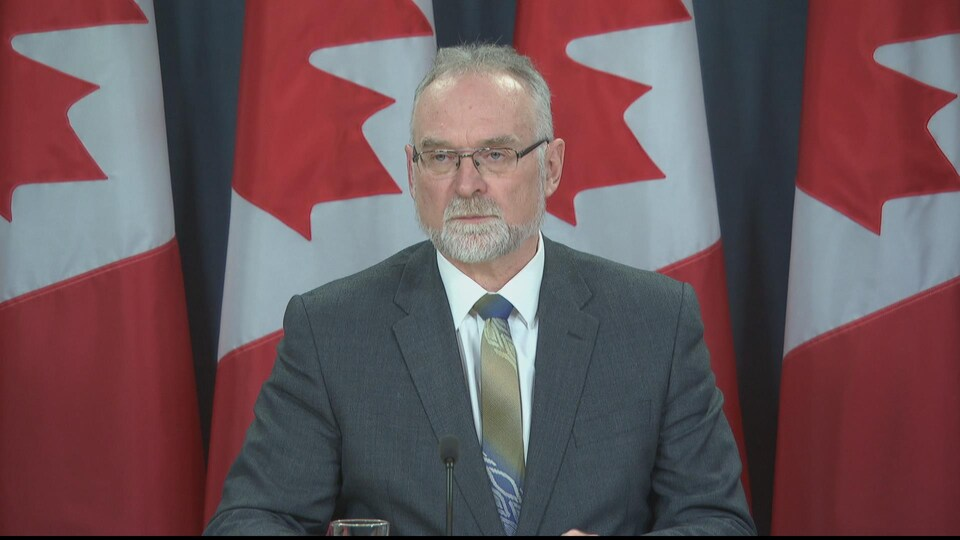 Michael Ferguson en conférence de presse.