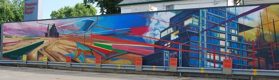 Murale de l'artiste peintre Michel Saint-Hilaire, 70 rue Sherbrook à Winnipeg