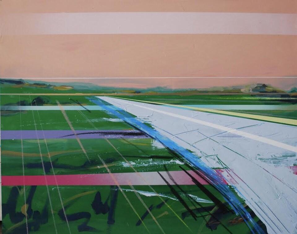 Toile de l'artiste peintre Michel Saint-Hilaire de Winnipeg.