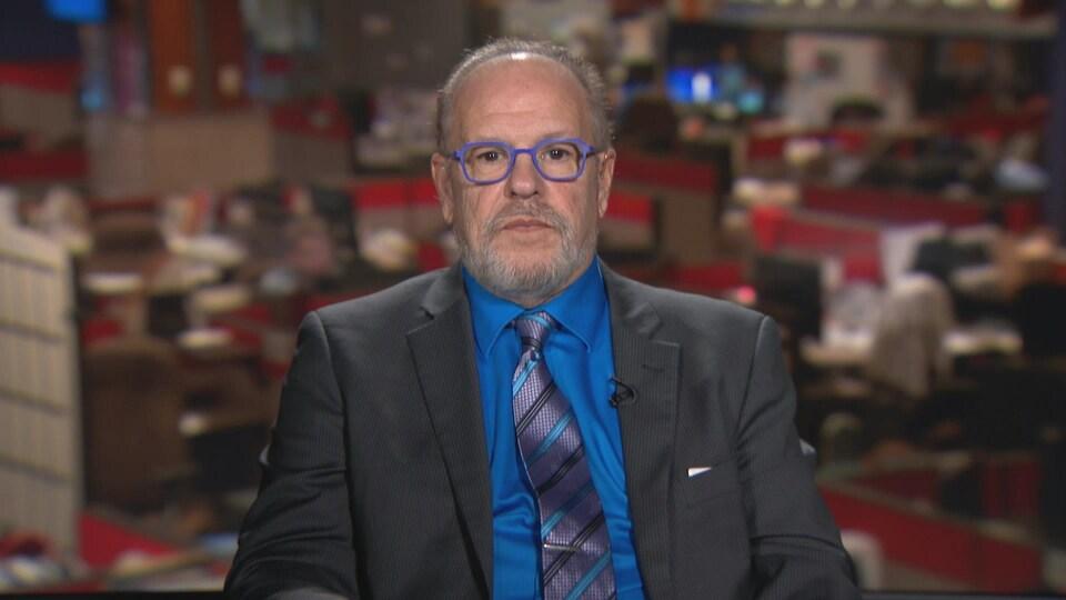 Le directeur général de la Société Santé en français, Michel Tremblay