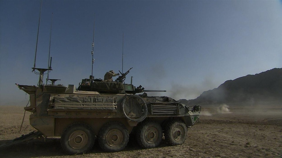 Un véhicule blindé léger canadien, construit par General Dynamics