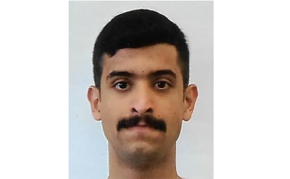 Une photo de carte d'identité du suspect de l'attaque à la base aéronavale de Pensacola, en Floride, en décembre 2019.