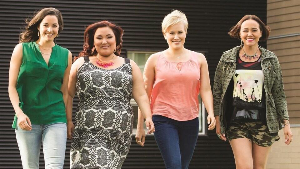 Les quatre principales actrices de la série «Mohawk Girls»