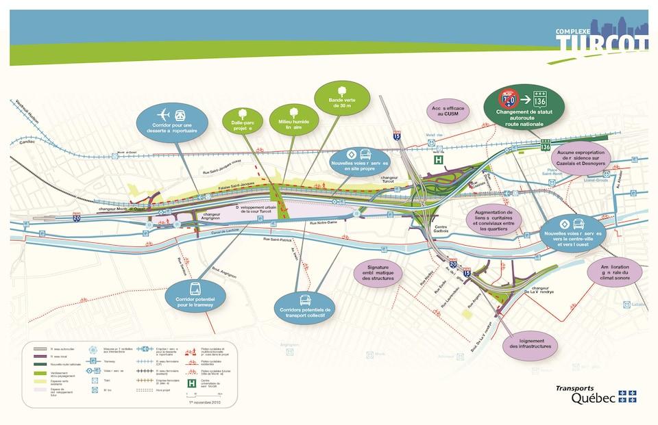 La dalle est bien visible sur ce plan du Ministère des Transports du Québec dévoilé en 2010.