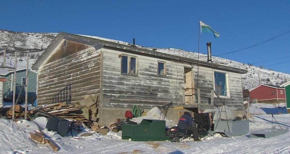 Une maison en piteux état à Nain