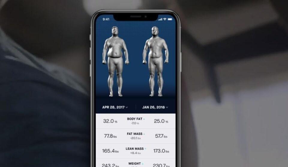 Le système Naked permet d'obtenir une image corporelle 3D.