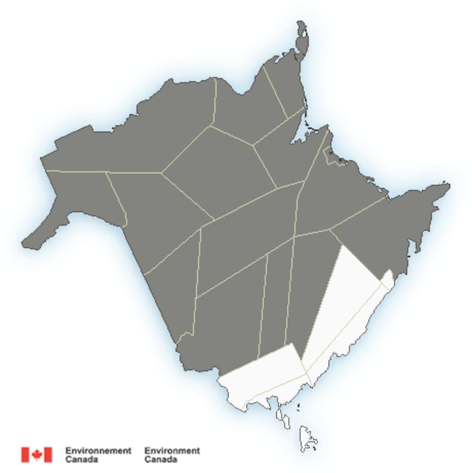 Un dessin de la province du Nouveau-Brunswick.