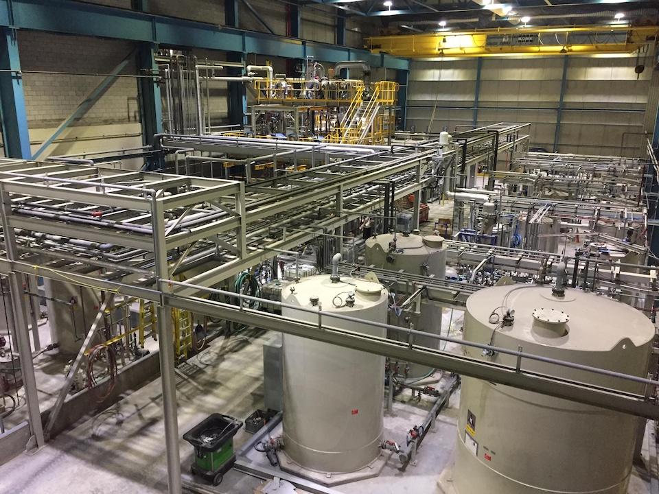 L'usine de Nemaska Lithium à Shawinigan