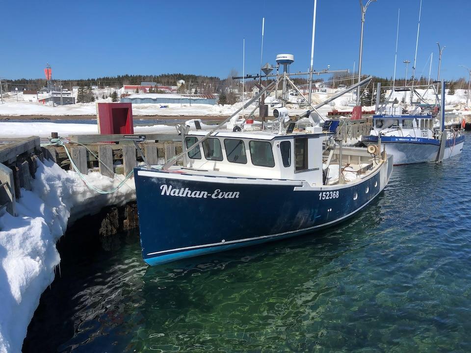 Des bateaux au printemps amarrés à un quai