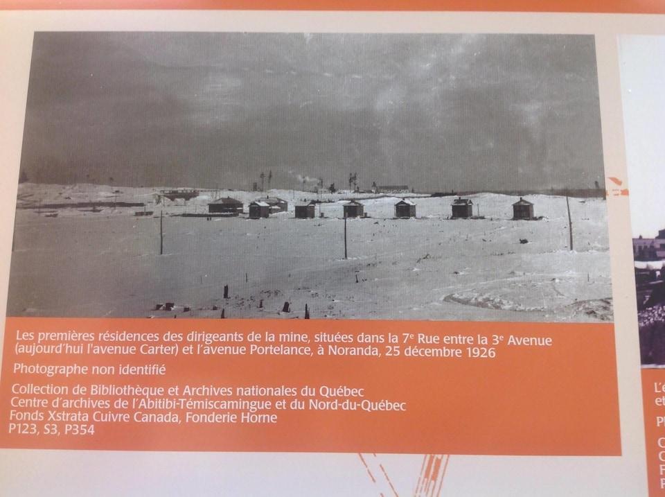 Les premières résidences des dirigeants de la mine Horne à Noranda, 25 décembre 1926.