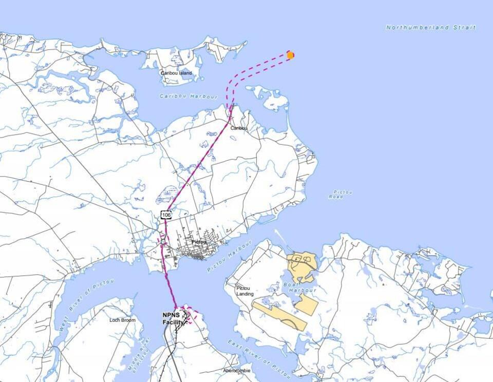 Carte du tracé du pipeline proposé.