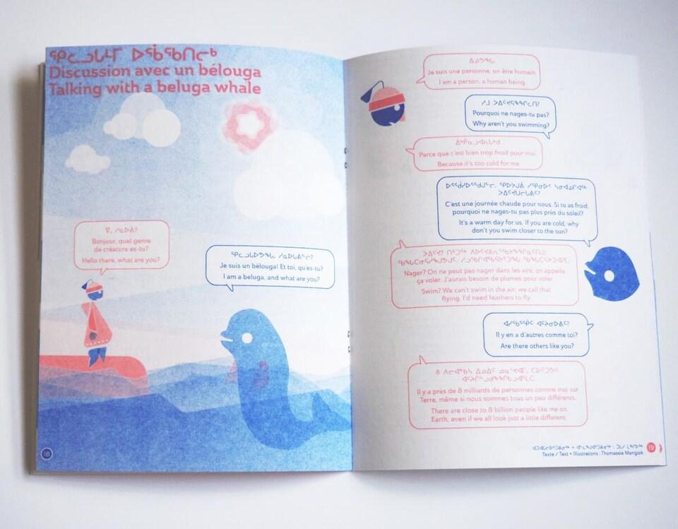 Page centrale d'un magazine