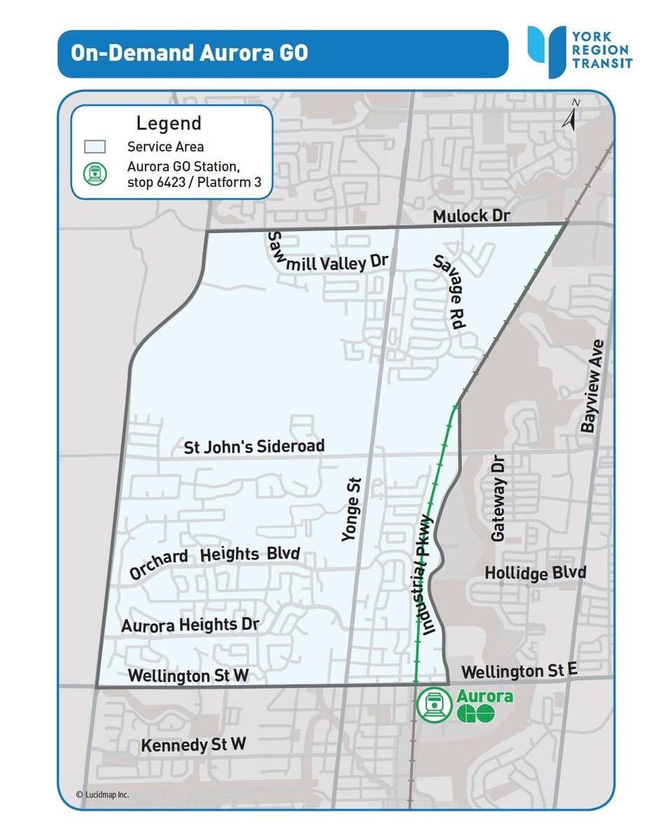 Une carte démontrant le périmètre où le service sera offert.