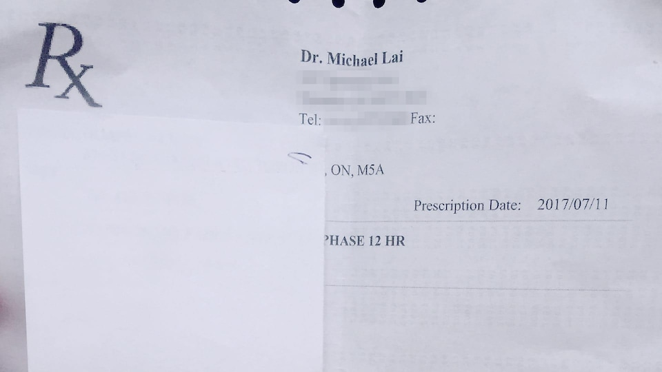 Une photo d'une ordonnance
