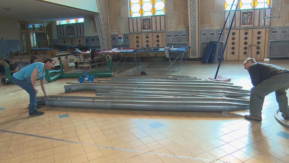L'orgue sera remonté au centre de production de Québec Issime, dans l'ancienne église Saint-Jacques