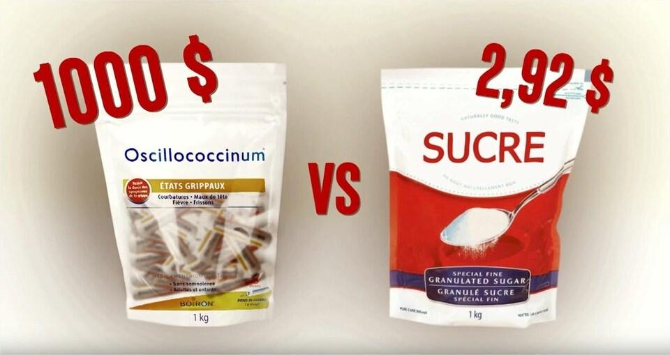 Une dose d'Oscillococcinum coûte environ 1 $.