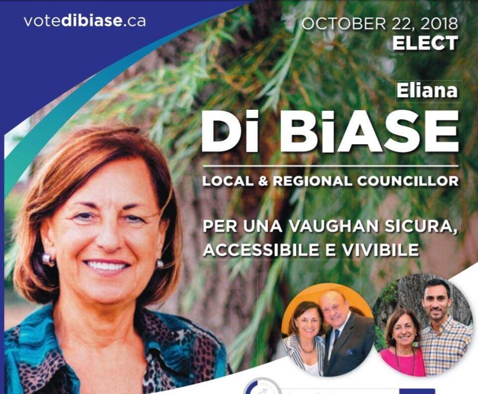 Un pamphlet électoral de la campagne di Biase