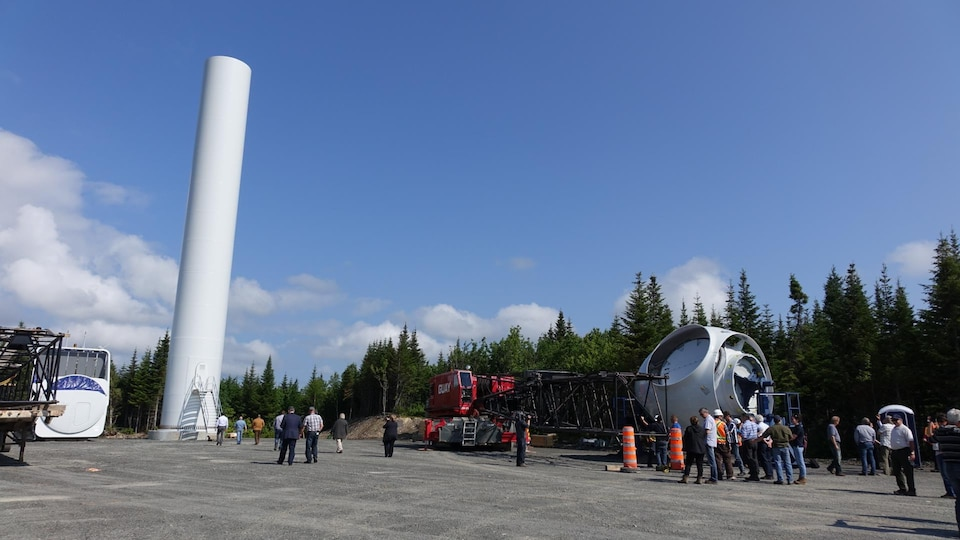 Le parc éolien Nicolas-Riou en chantier