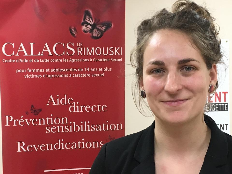Pascale Parent est intervenante au CALACS Bas-Saint-Laurent