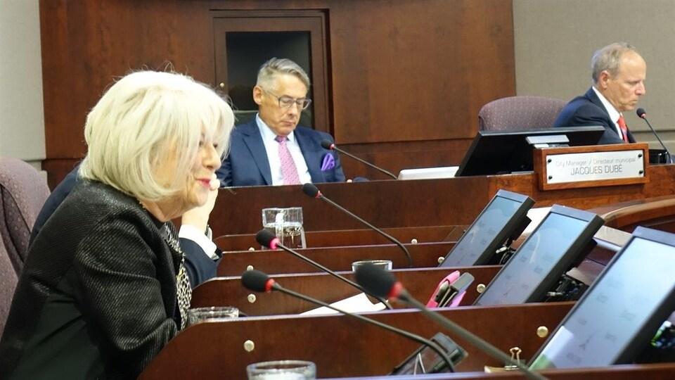 Paulette Thériault au conseil municipal de Moncton
