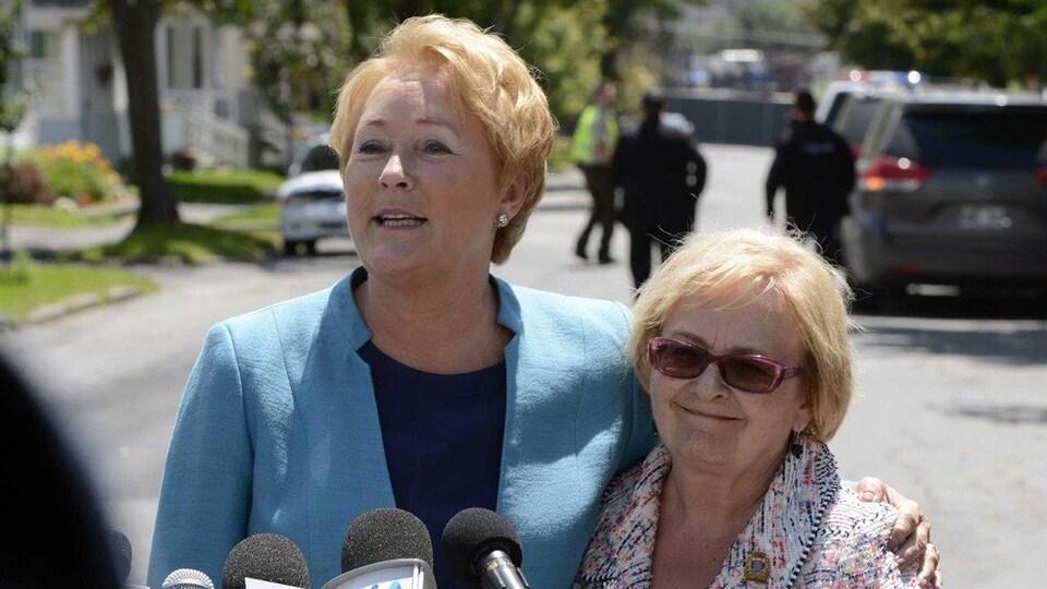 Pauline Marois et Colette Roy Laroche