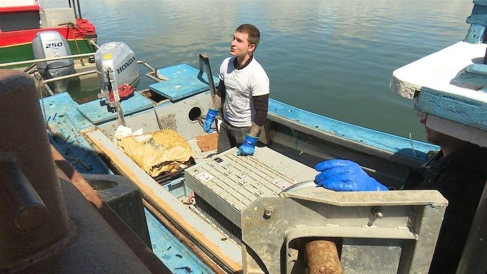 Homardier à quai
