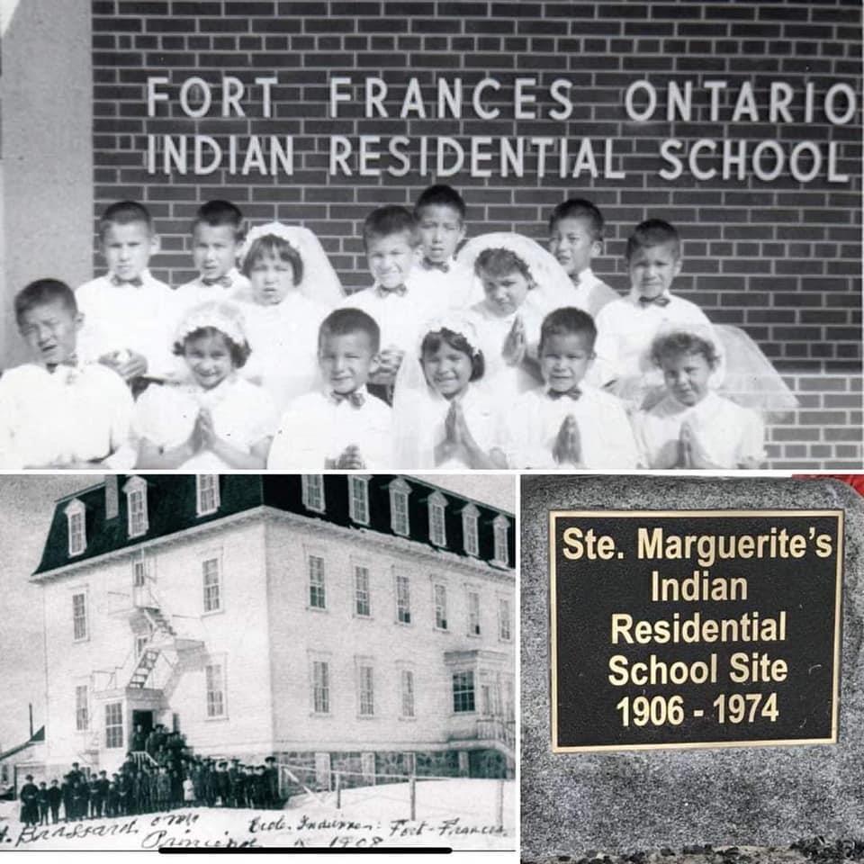 Photo d'archives des élèves du pensionnat St. Margaret de Fort Frances.