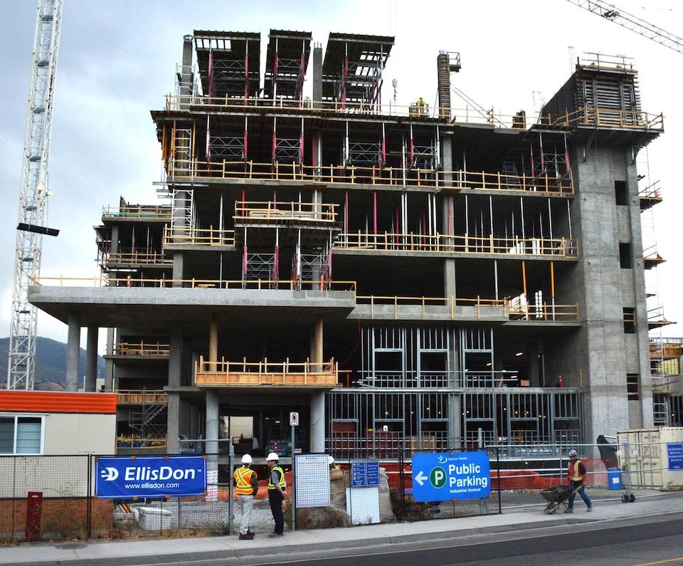 construction de l'édifice