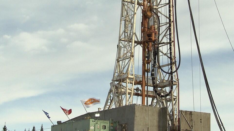 Un puits de forage de Pétrolia à Gaspé