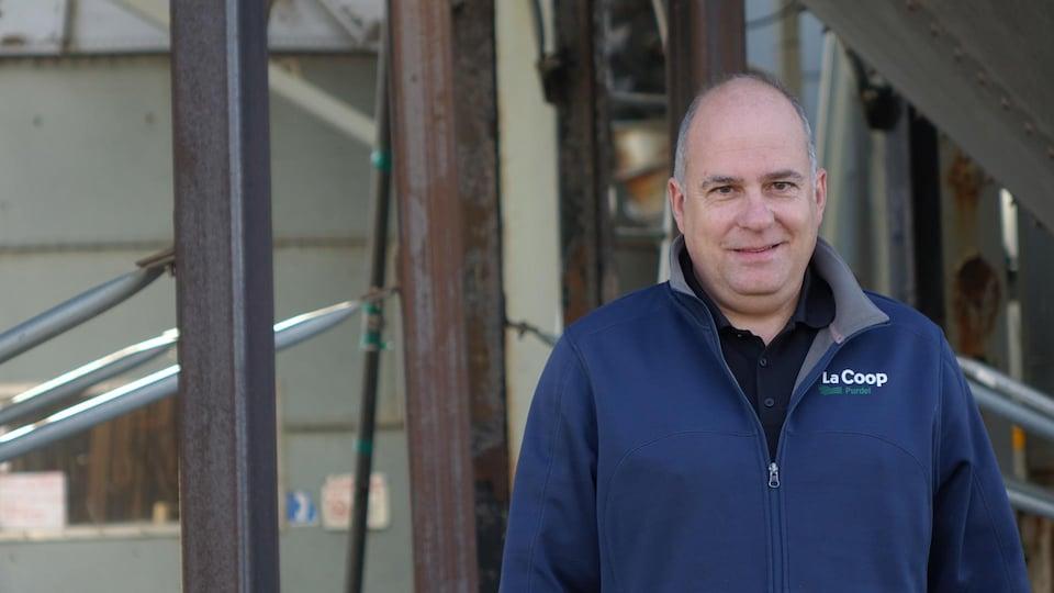 Le directeur agricole de la Coop Purdel, Philip Bernier,