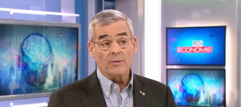 Pierre Boivin lors d'une entrevue à Radio-Canada
