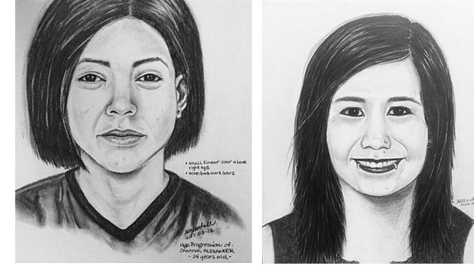 Des portraits robots des deux adolescentes.