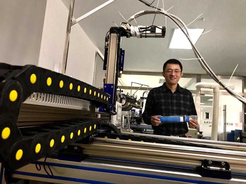 Dai Hongjun, entrepreneur. Nantong, octobre 2017