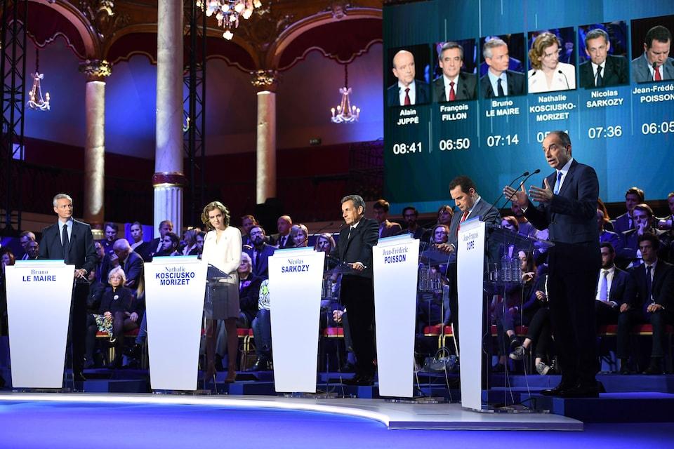 Les candidats débattent